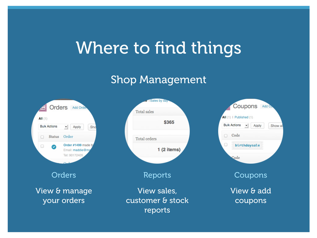 Shop Management Orders View & manage your order...