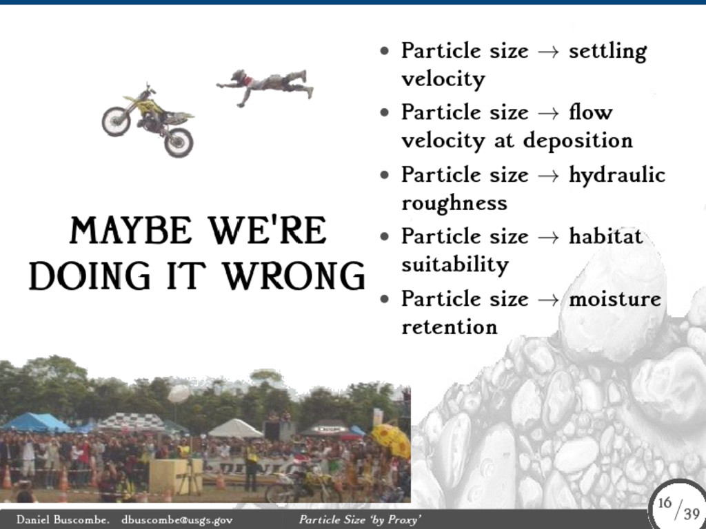 • Particle size → settling velocity • Particle ...