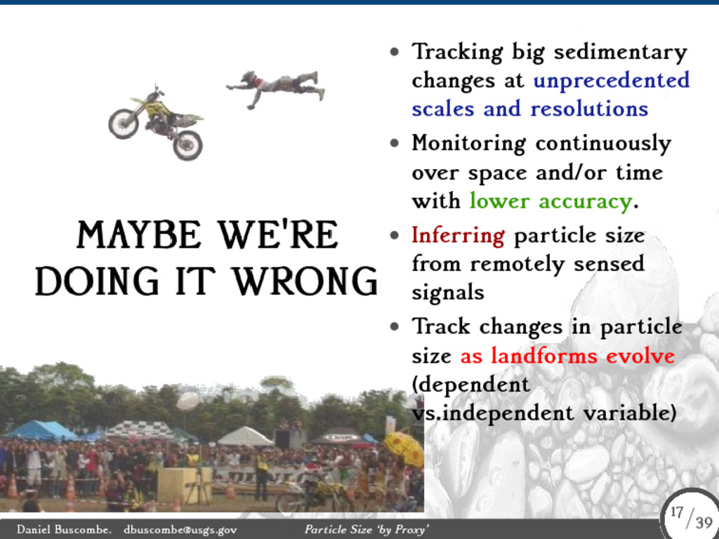 • Tracking big sedimentary changes at unprecede...