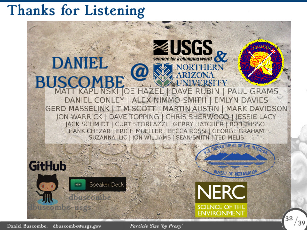 Thanks for Listening dbuscombe dbuscombe-usgs D...