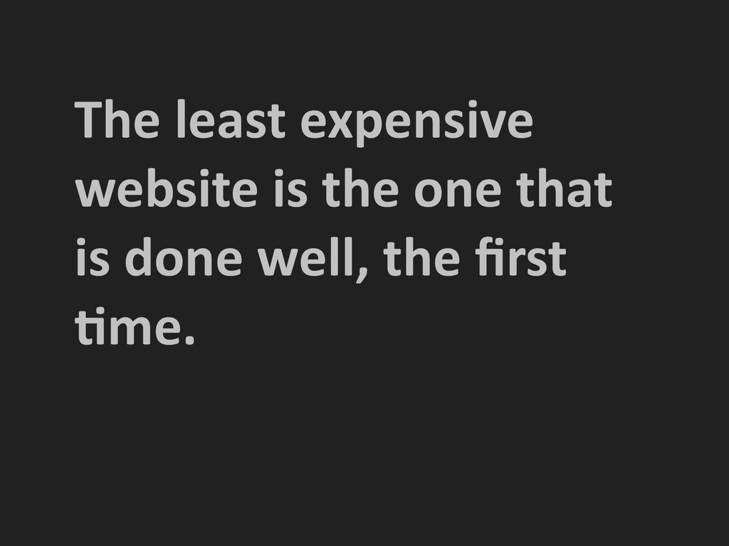 The least expensive  website is ...
