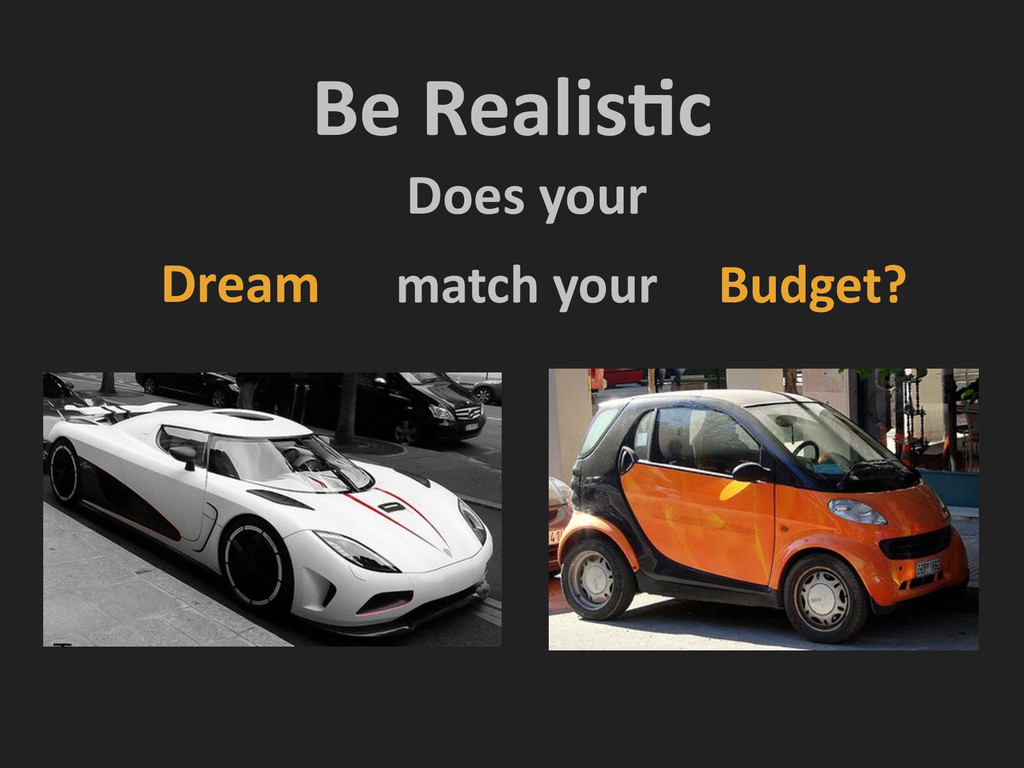 Be RealisNc Dream Budget? Does your match...