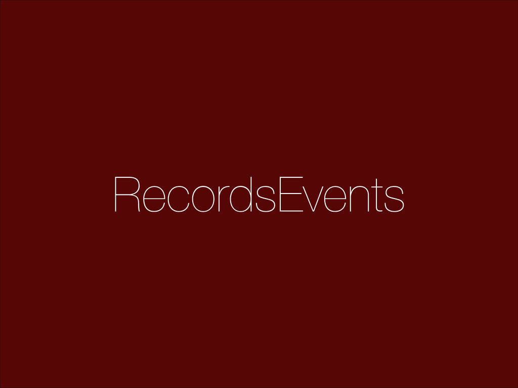 RecordsEvents