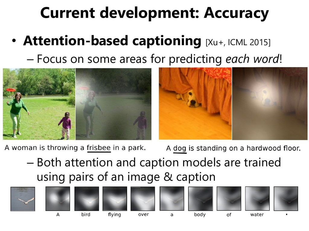 Current development: Accuracy • Attention-based...