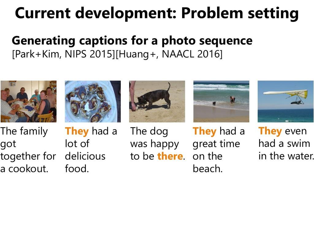 Current development: Problem setting Generating...