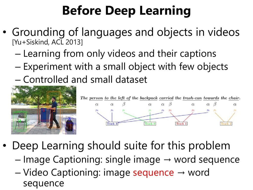 Before Deep Learning • Grounding of languages a...