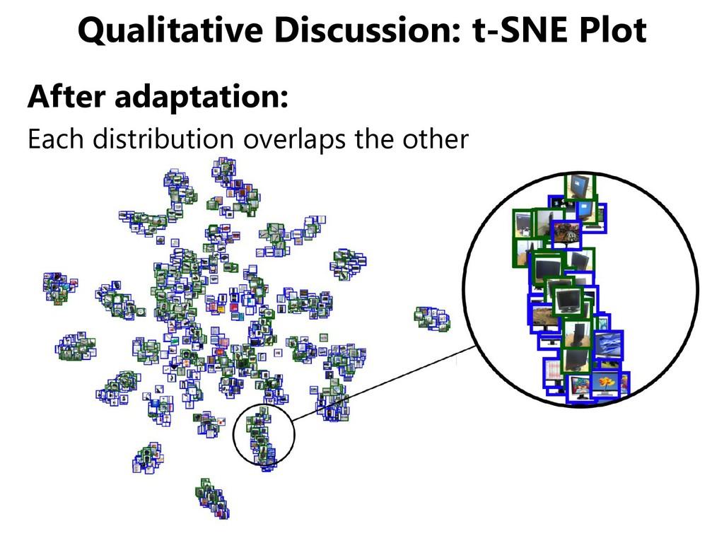 Qualitative Discussion: t-SNE Plot After adapta...