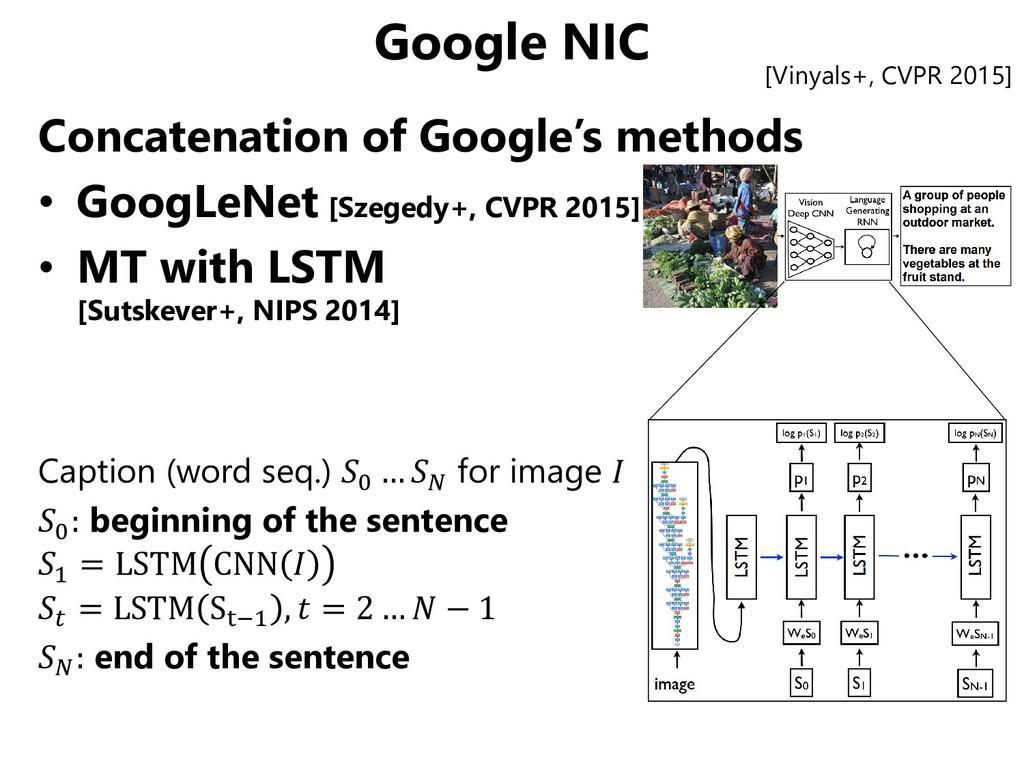 Google NIC Concatenation of Google's methods • ...