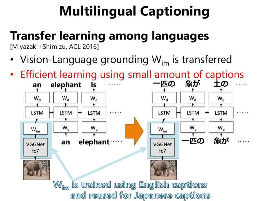 Multilingual Captioning Transfer learning among...