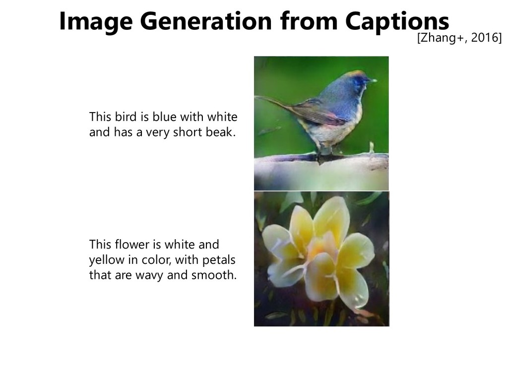 Image Generation from Captions This bird is blu...