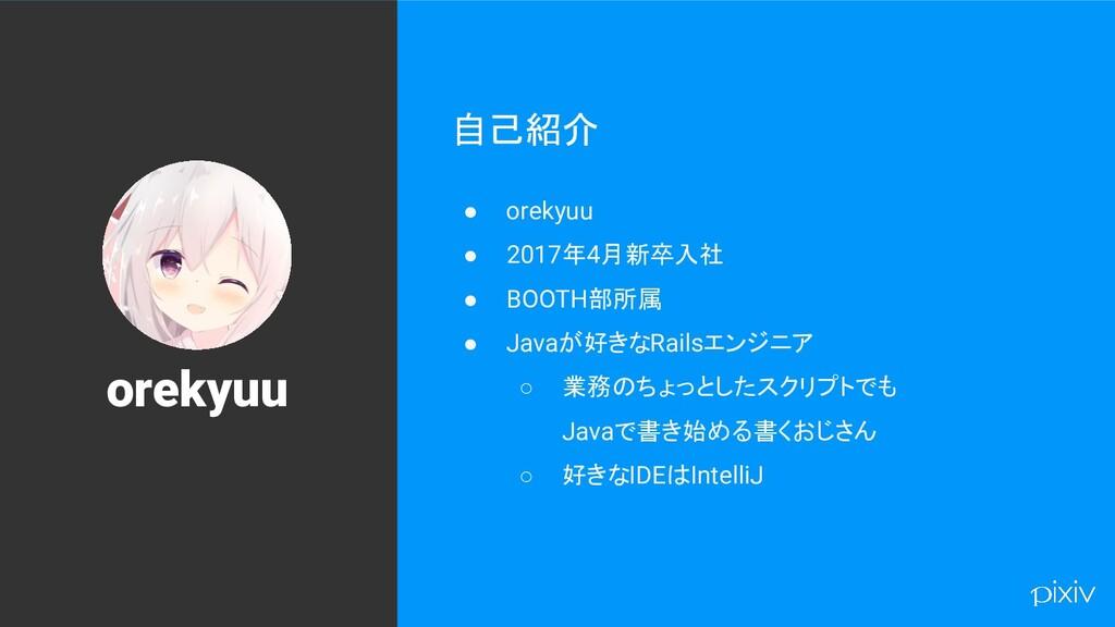 88 自己紹介 ● orekyuu ● 2017年4月新卒入社 ● BOOTH部所属 ● Ja...