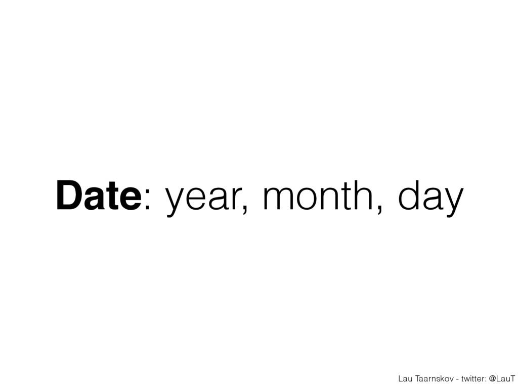 Lau Taarnskov - twitter: @LauT Date: year, mont...