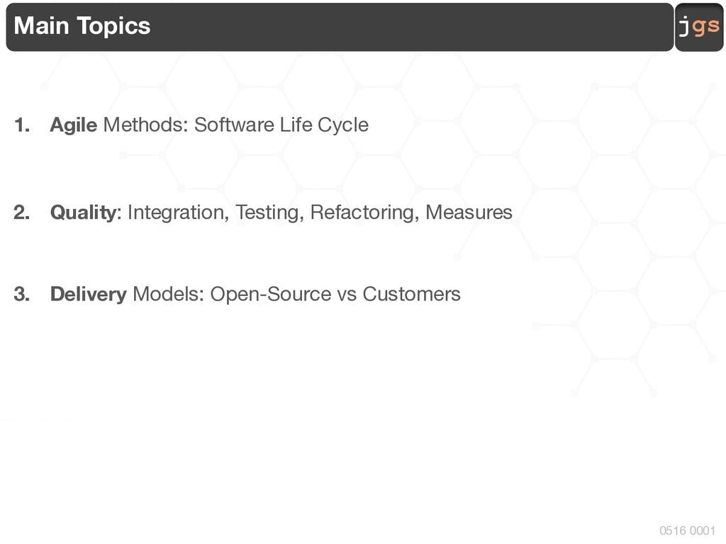 jgs 0516 0001 Main Topics 1. Agile Methods: Sof...