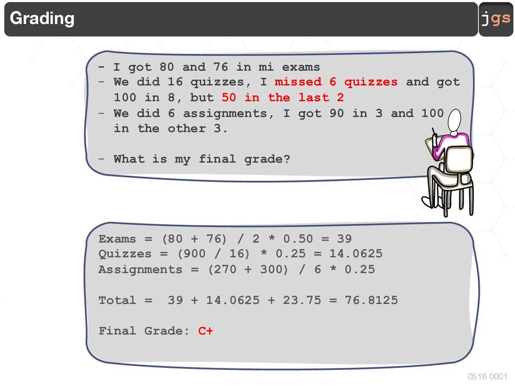 jgs 0516 0001 Grading - I got 80 and 76 in mi e...