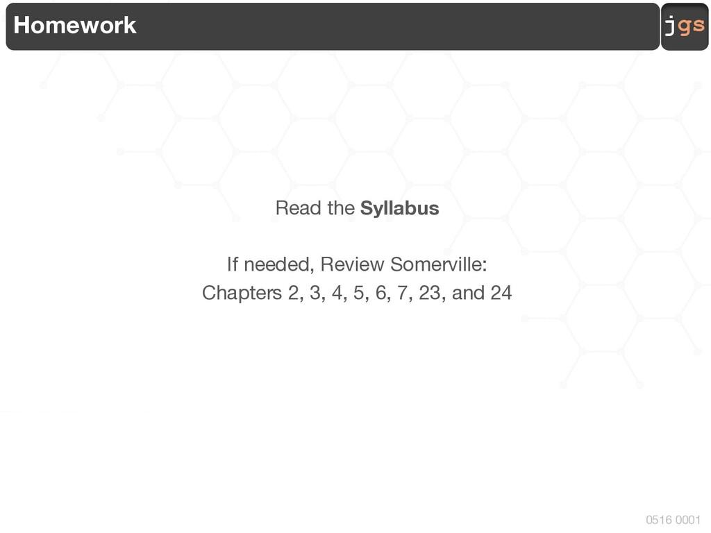 jgs 0516 0001 Homework Read the Syllabus If nee...