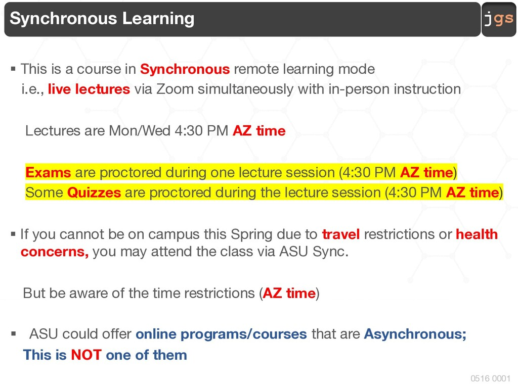 jgs 0516 0001 Synchronous Learning § This is a ...