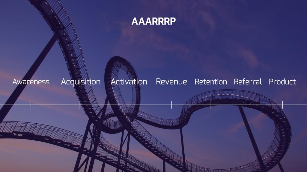 Activation Retention AAARRRP Acquisition Revenu...