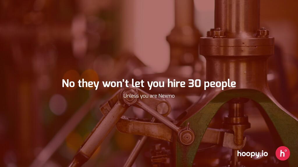 hoopy.io No they won't let you hire 30 people U...