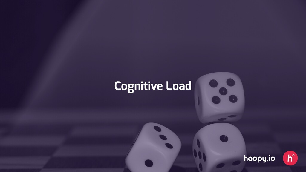 Cognitive Load hoopy.io