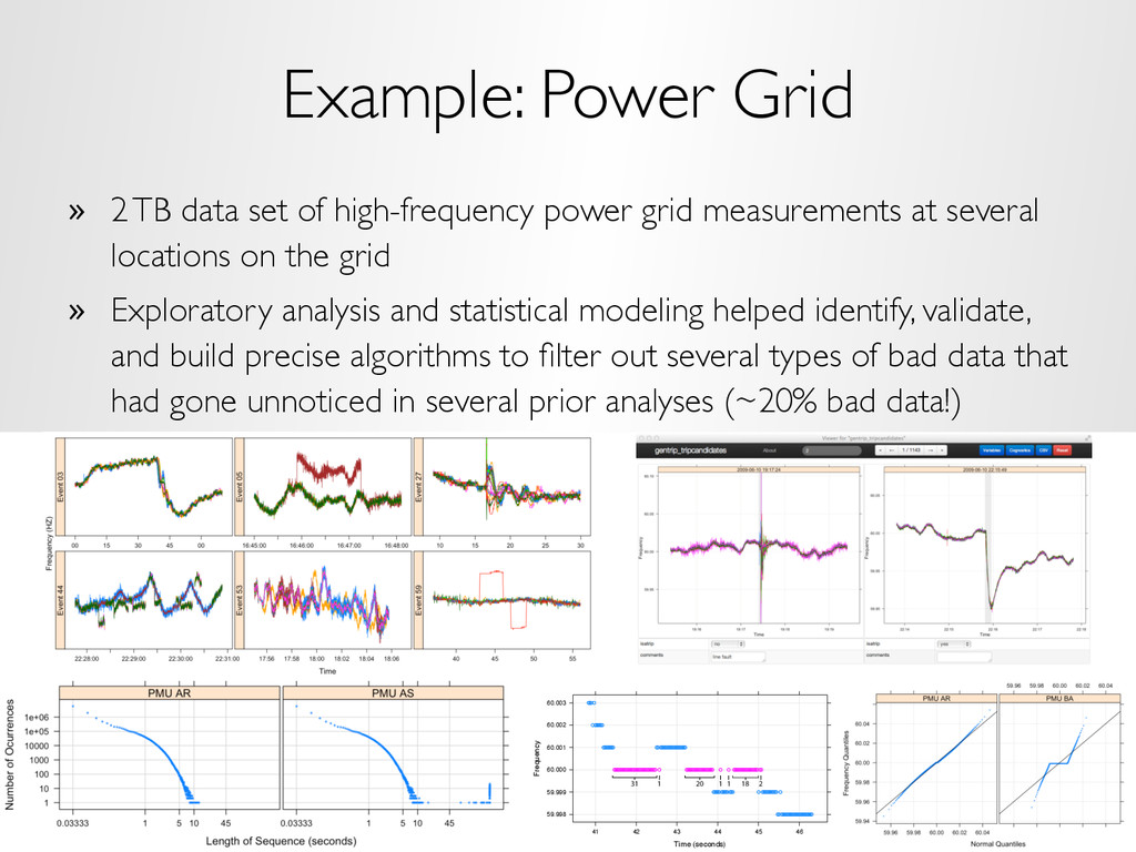Example: Power Grid »  2 TB data set of high-fr...