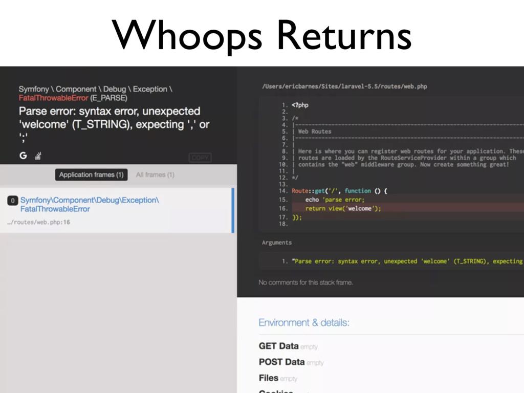 Whoops Returns