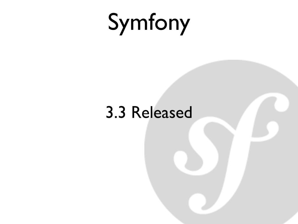 Symfony 3.3 Released