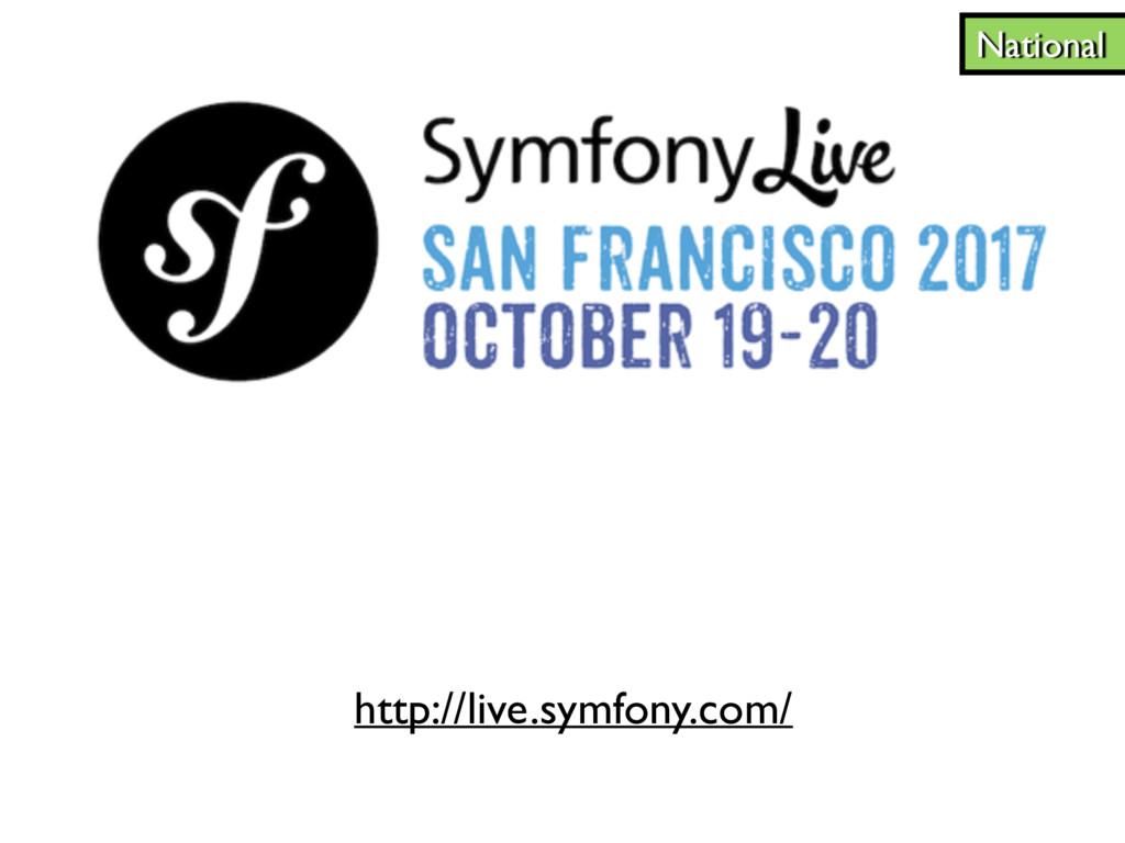 http://live.symfony.com/ National
