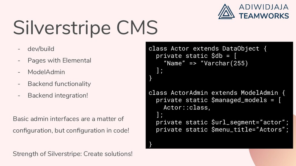 Silverstripe CMS - dev/build - Pages with Eleme...