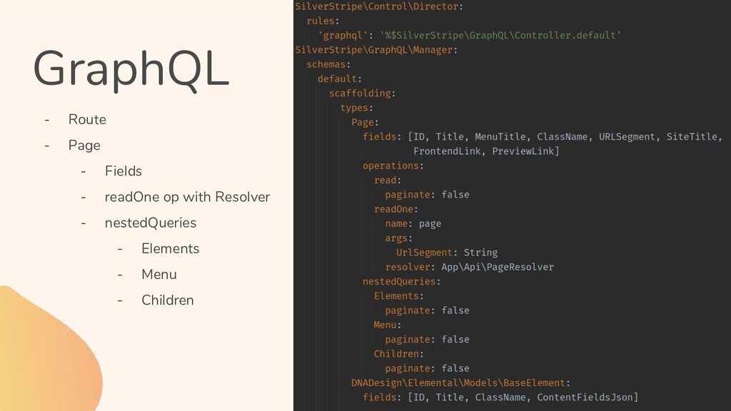 GraphQL - Route - Page - Fields - readOne op wi...