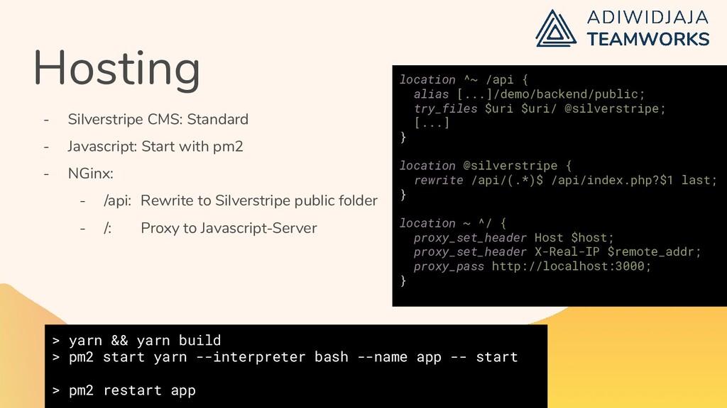 Hosting - Silverstripe CMS: Standard - Javascri...