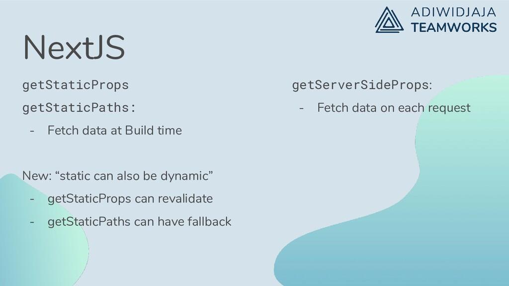 NextJS getStaticProps getStaticPaths: - Fetch d...