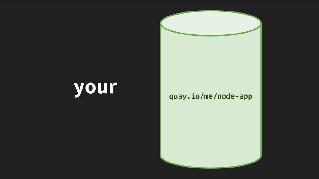 your quay.io/me/node-app