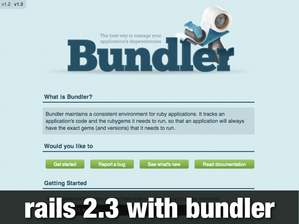rails 2.3 with bundler