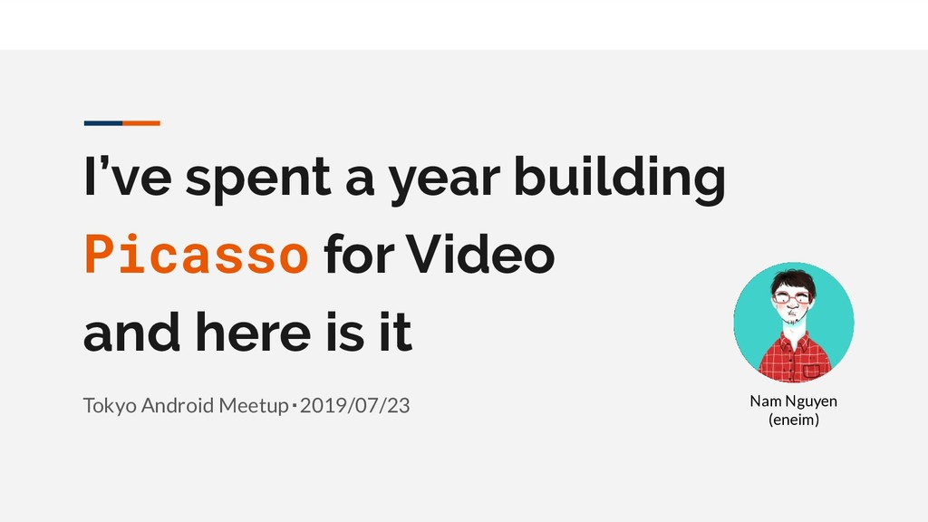 I've spent a year building Picasso for Video an...