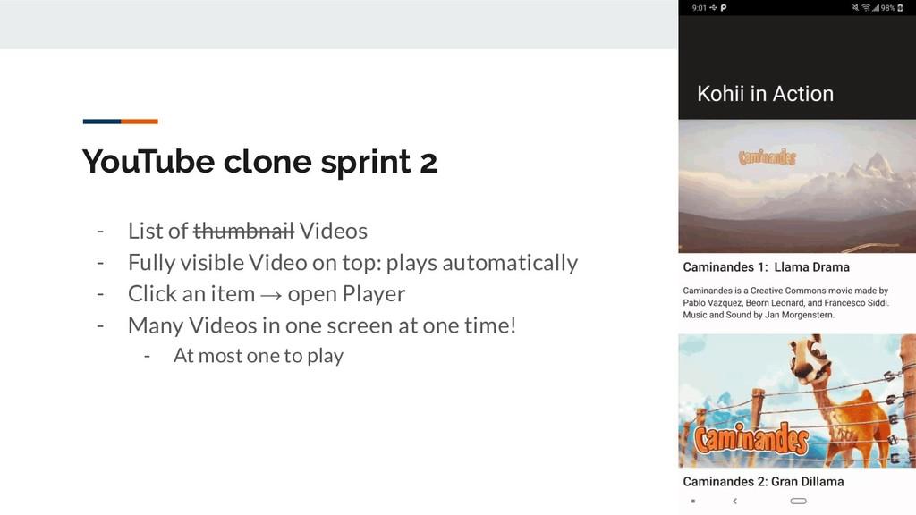YouTube clone sprint 2 - List of thumbnail Vide...