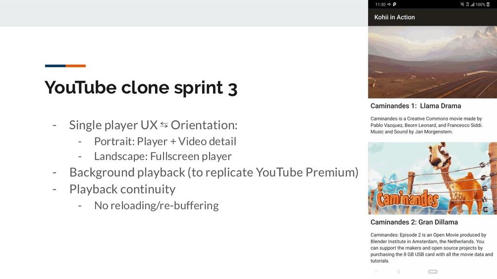 YouTube clone sprint 3 - Single player UX ⇆ Ori...