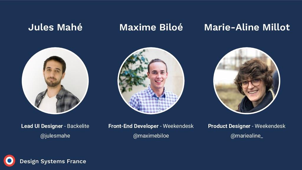Lead UI Designer - Backelite @julesmahe Jules M...