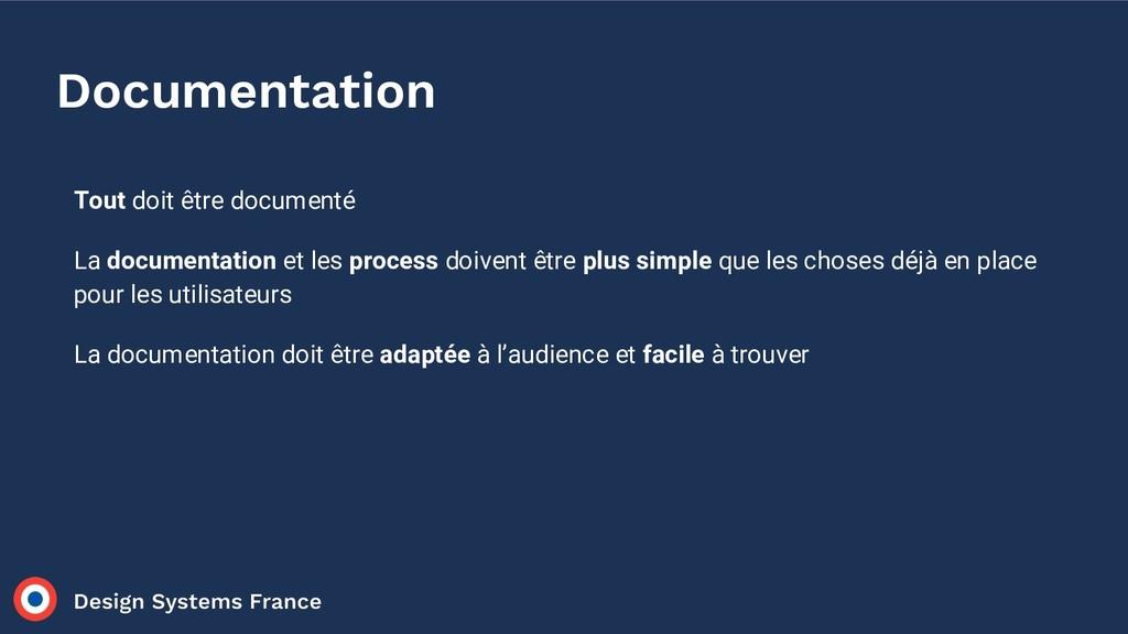 Documentation Tout doit être documenté La docum...