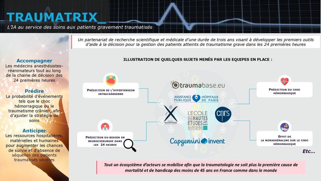 Objectifs et enjeux du projet TRAUMATRIX_ Un pa...