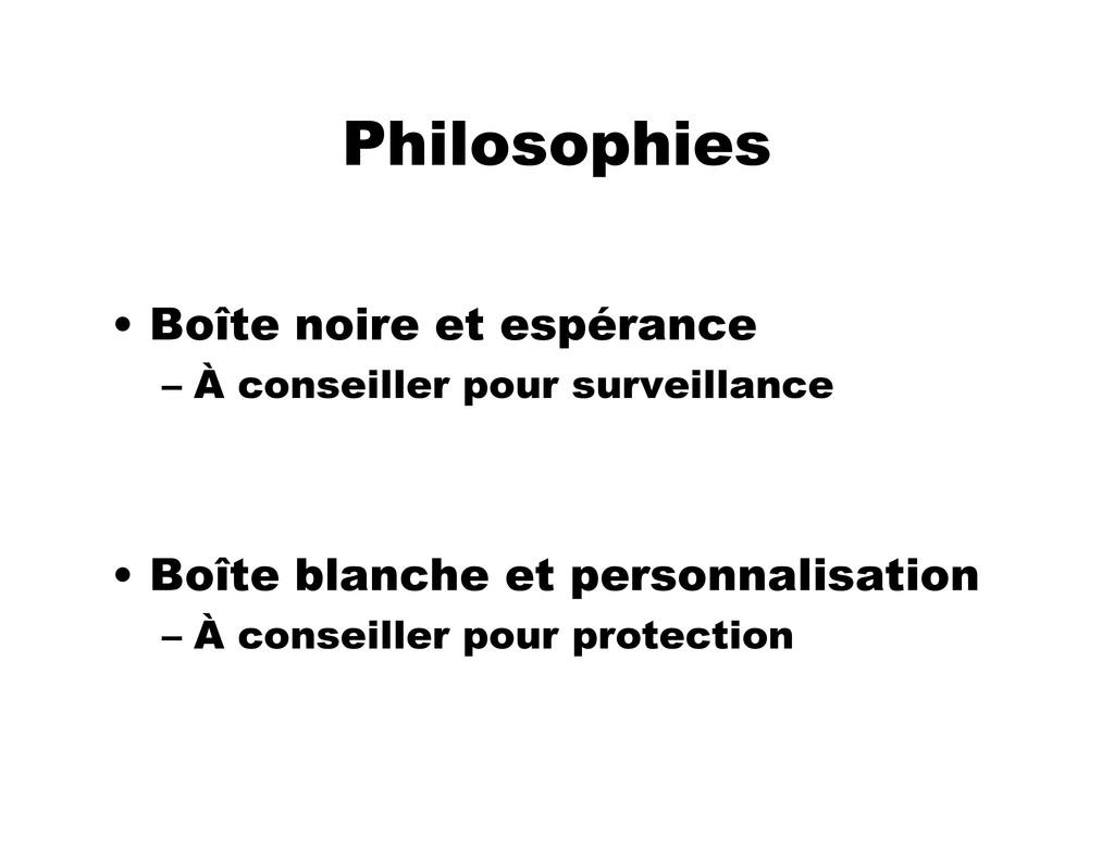Philosophies • Boîte noire et espérance – À con...