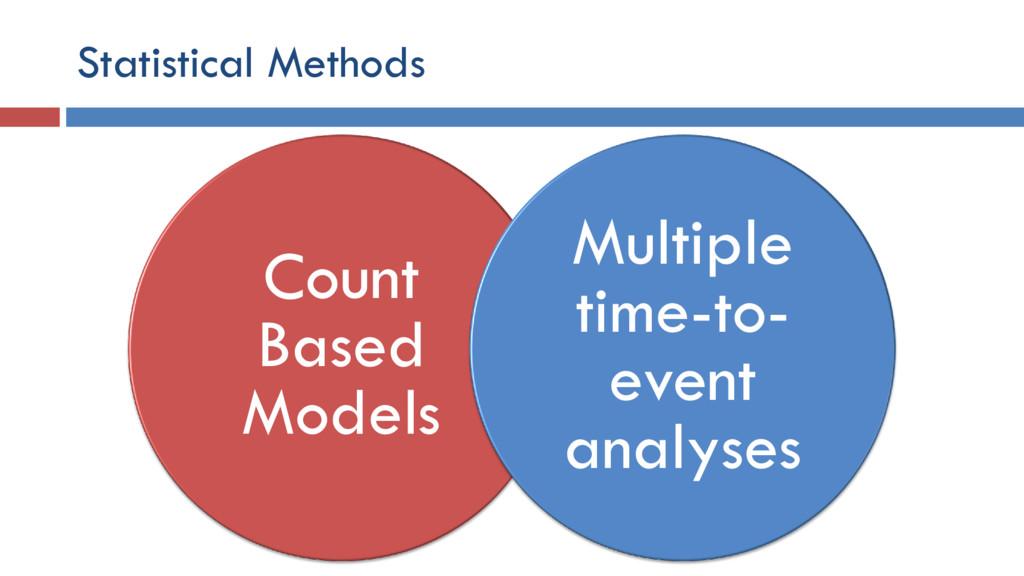 Statistical Methods Count Based Models Multiple...