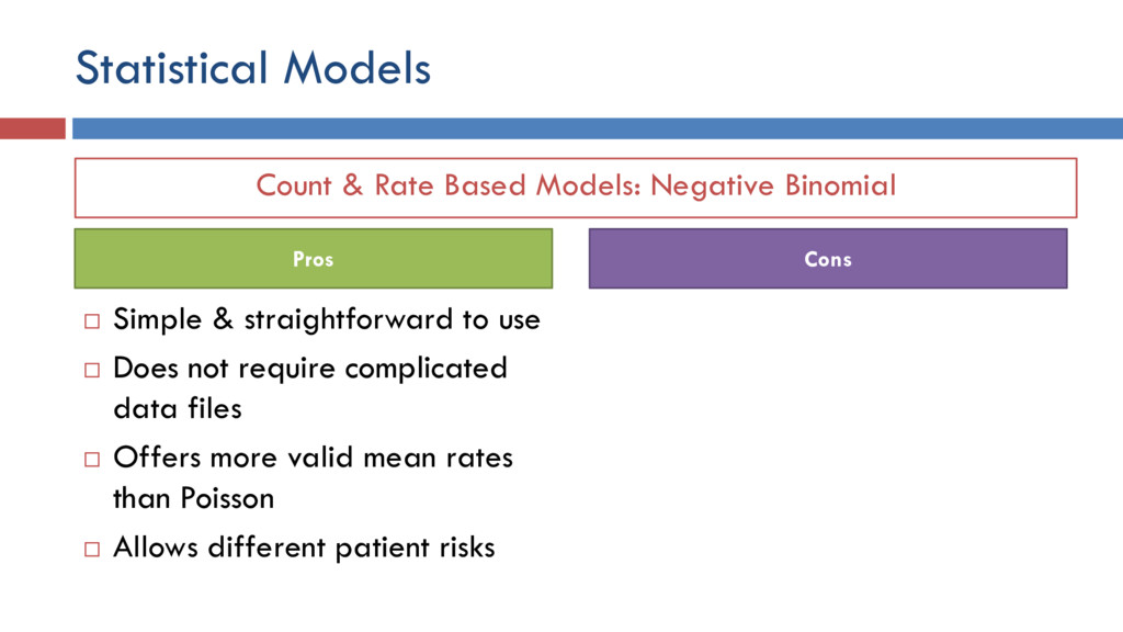 Count & Rate Based Models: Negative Binomial St...