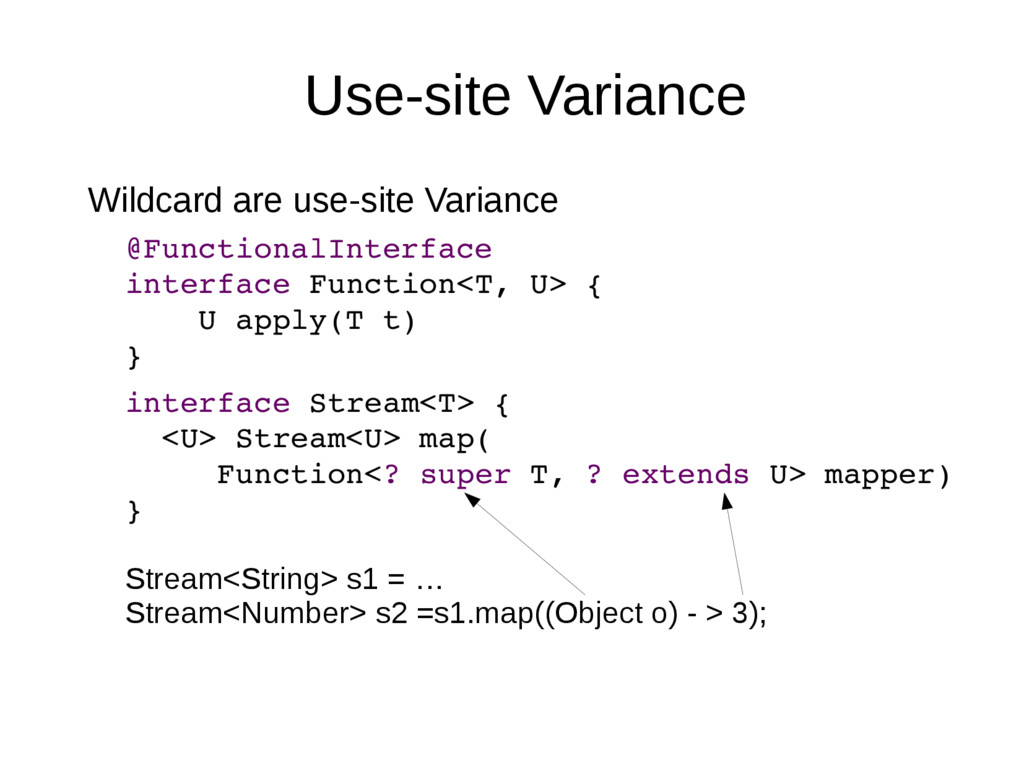 Use-site Variance Wildcard are use-site Varianc...