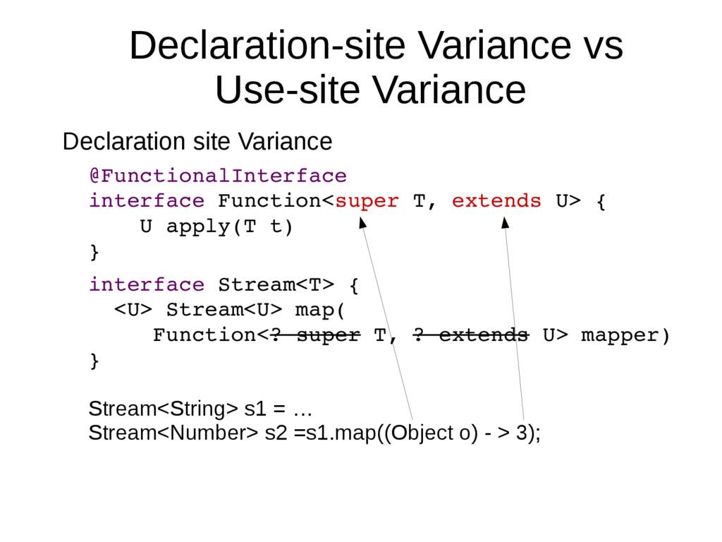 Declaration-site Variance vs Use-site Variance ...