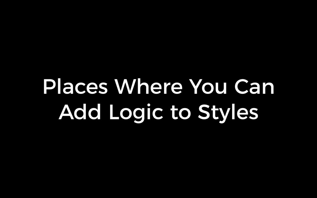 Places Where You Can