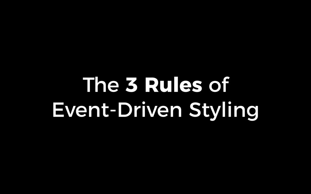 The 3 Rules of