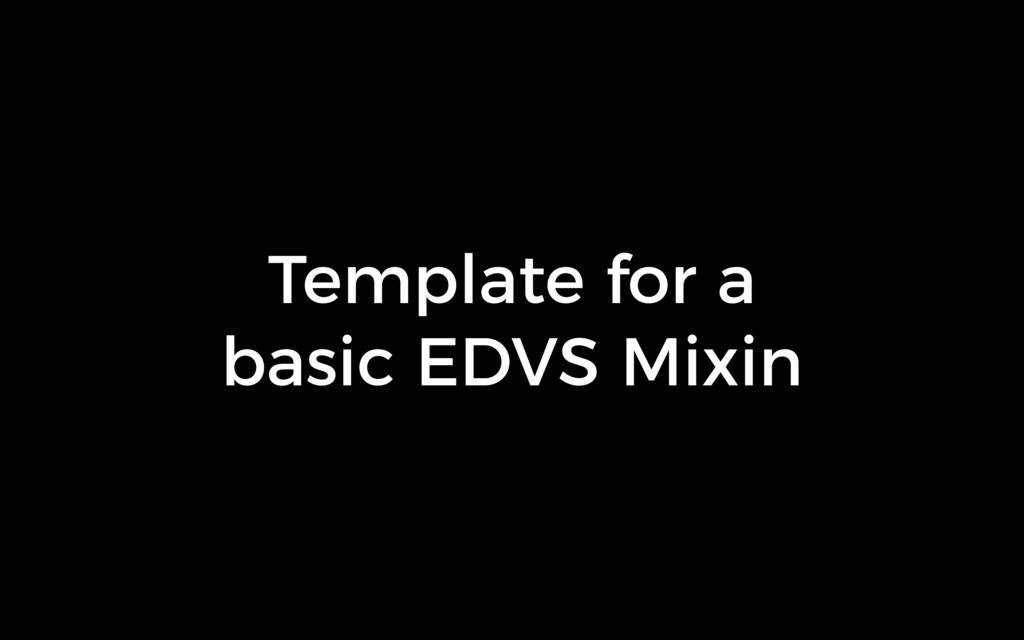 Template for a