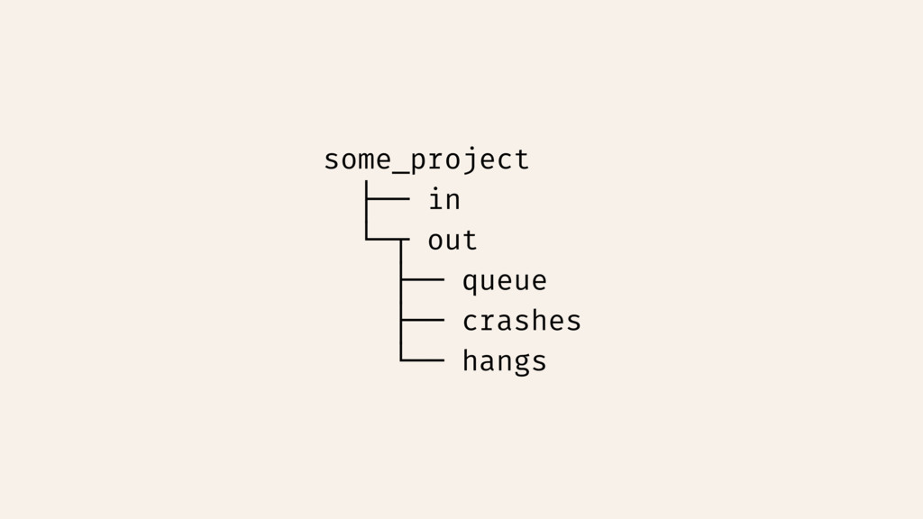 some_project ├── in └─┬ out ├── queue ├── crash...