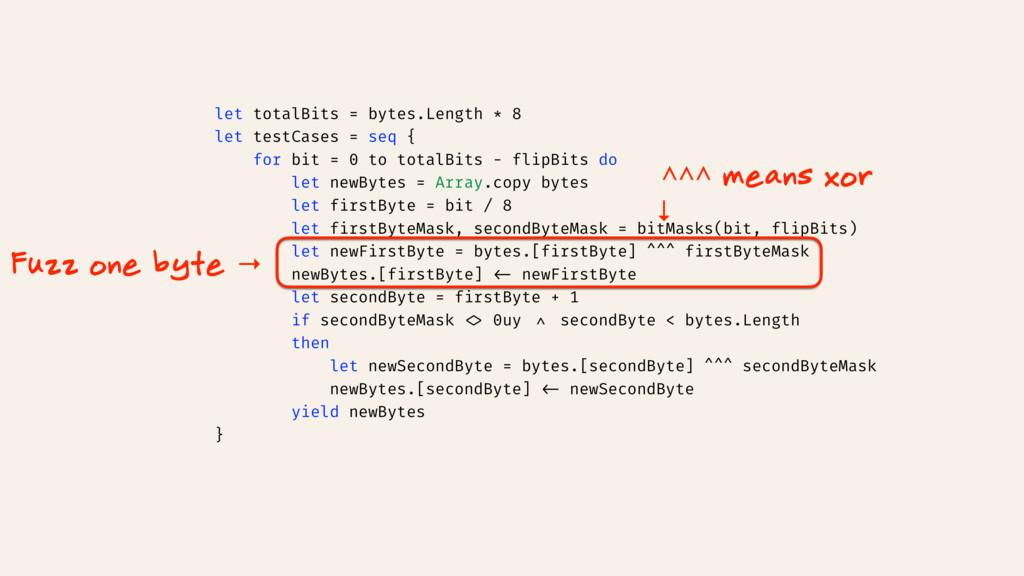 let totalBits = bytes.Length * 8 let testCases ...