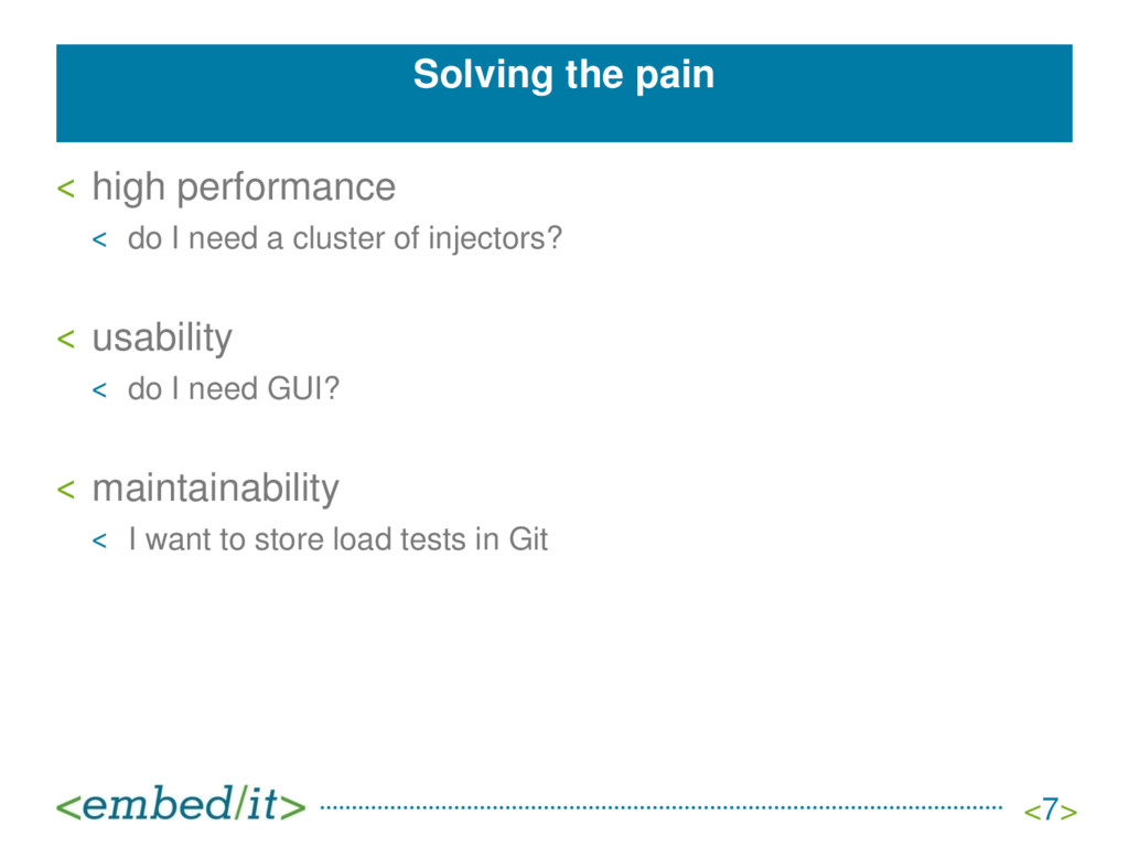 Solving the pain ˂ high performance ˂ do I need...